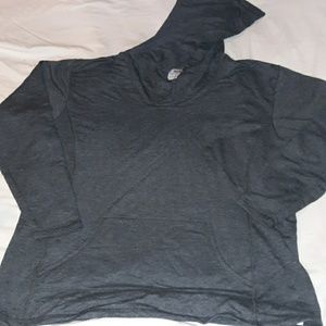 Anvil Cowl Neck Terry Light Hoodie XXL Grey